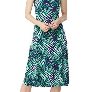 🌞HOST PICK🌞Sundress  palm print easy travel NWT
